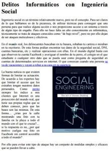 Delitos informativos con Ing Social