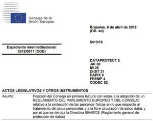 UE protecc datos
